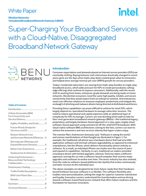 Super-Charging Your Broadband Services with a Cloud-Native, Disaggregated Broadband Network Gateway WP Cover
